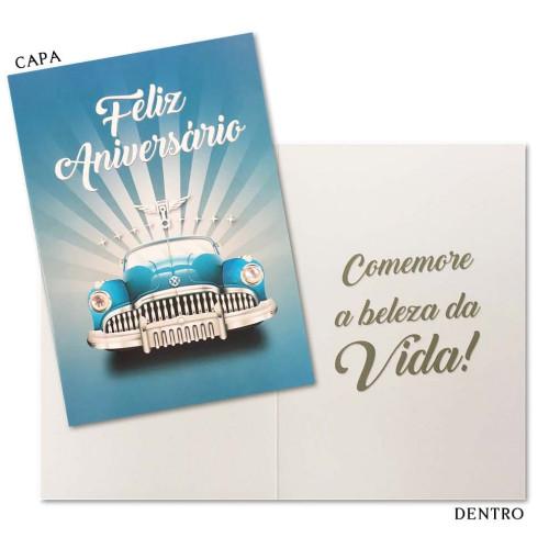 Cartão M - Aniversário Carro
