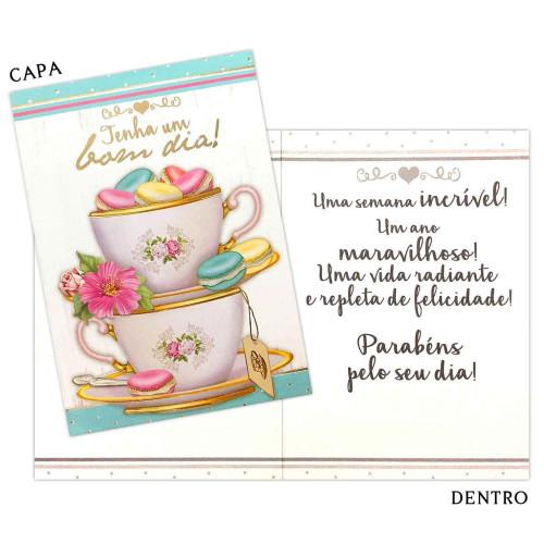 Cartão M - Aniversário Bom Dia
