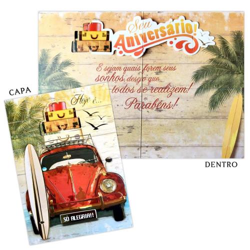 Cartão M - Aniversário Fusca