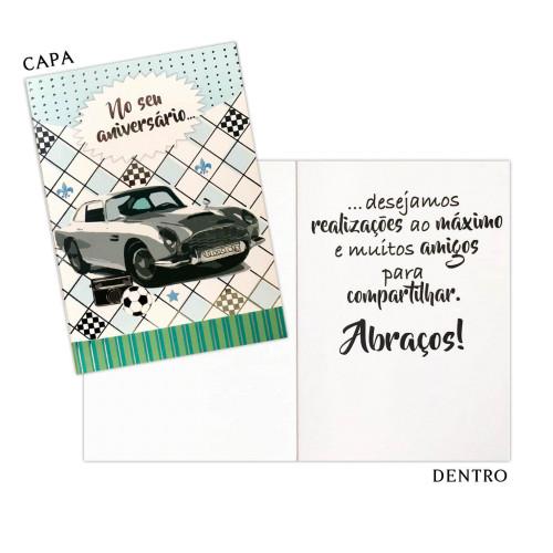 Cartão P - Aniversário Carro